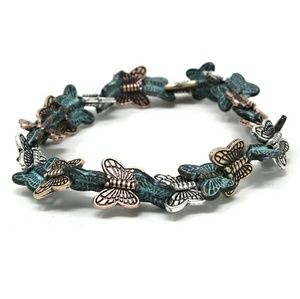 Butterfly stretch bracelet